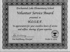 ELE Volunteer Service Award